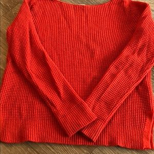 Gap Red Cable knit scoop neck sweater